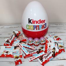 Большое киндер яйцо с наполнением Kinder Mix (30 см)