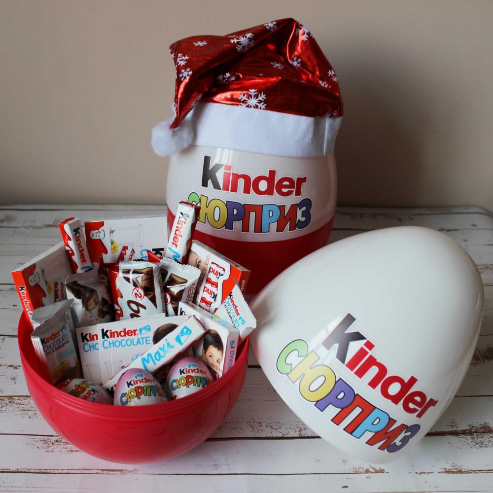 Большой новогодний киндер сюрприз Kinder Mix (30 см)