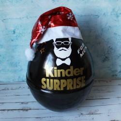 Новогодний мужской набор в черном киндер сюрпризе