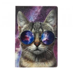 """Обложка для паспорта """"Космический котик"""""""