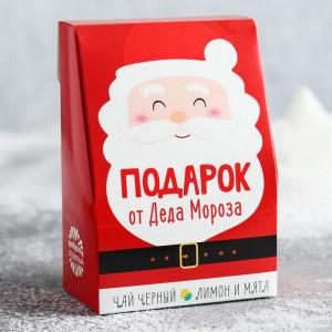 Чай чёрный «Подарок от Деда Мороза», лимон и мята, 100 г