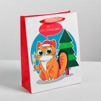 Пакет новогодний «С отступающим!» 18 × 23 × 8 см