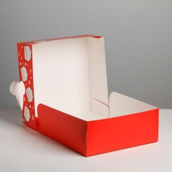 Коробка складная «Дед Мороз», 25 х 25 х 10 см