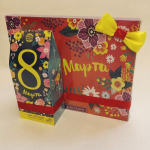 Подарочный набор на 8 марта Конфеты и чай