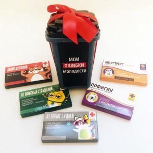 Подарочный набор «Мои ошибки молодости» с шоколадками