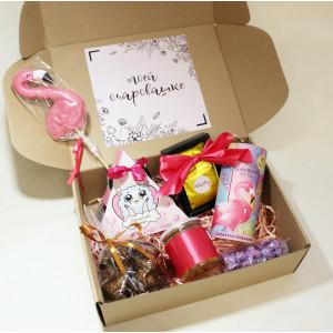 Подарочный бокс с фламинго Моей очаровашке