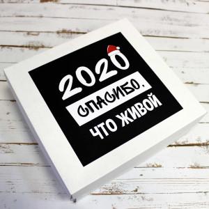 Подарочная коробка «2020. Спасибо, что живой»