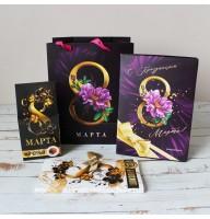 Подарочный набор на 8 марта: чай, ежедневник, шоколад