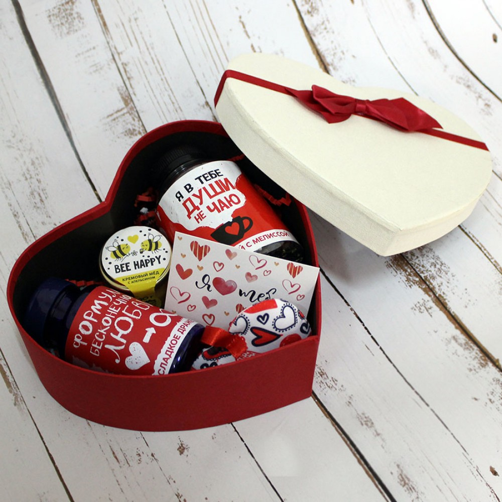 Подарочный набор в сердце «Тому, кого люблю» M