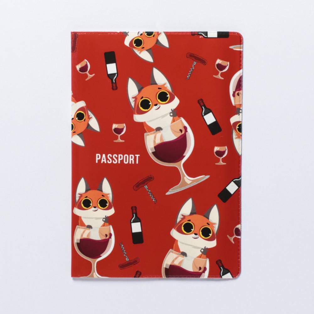 Обложка для паспорта «Паспорт любителя винишка»