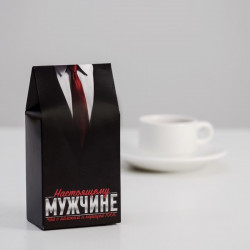 Чай в треугольной коробке «Настоящему мужчине (костюм)» 50 г