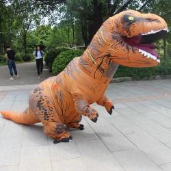 Надувной костюм динозавра