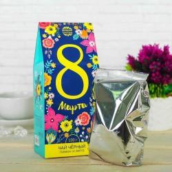 Чай чёрный «8 Марта» (цветы) с лимоном и мятой 100 г