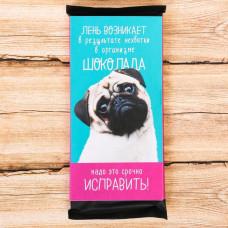 Обертка для шоколада «Лень возникает», 8 х 15.5 см
