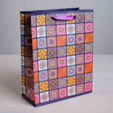 Пакет подарочный «Мозаика» 12 × 15 × 5,5 см