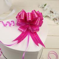 Розовый бант для упаковки
