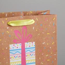 Пакет подарочный «С днем Рождения» (сюрприз) 23 × 27 × 11,5 см