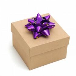 Бант звезда металлик для подарка