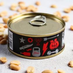 Арахис солёный в консервной банке «Арахис для мужика», 65 г