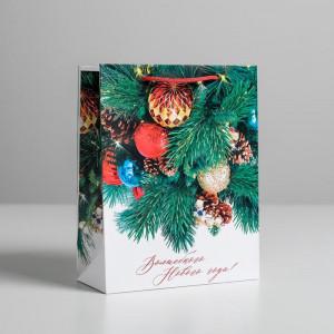 Пакет подарочный «Волшебного Нового Года» 18  x 23 × 8 см