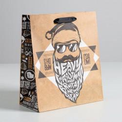 Пакет подарочный «Брутального года» 23 × 27 × 8 см
