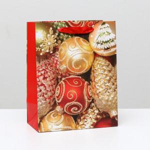 Пакет «Елочные шарики» 18 x 23 x 10 см