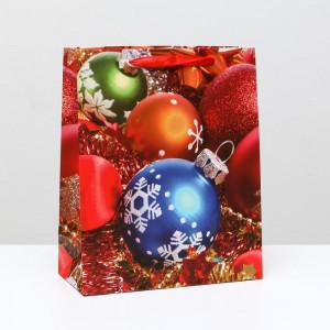 Пакет «Елочные шарики» 26 x 32 x 12 см