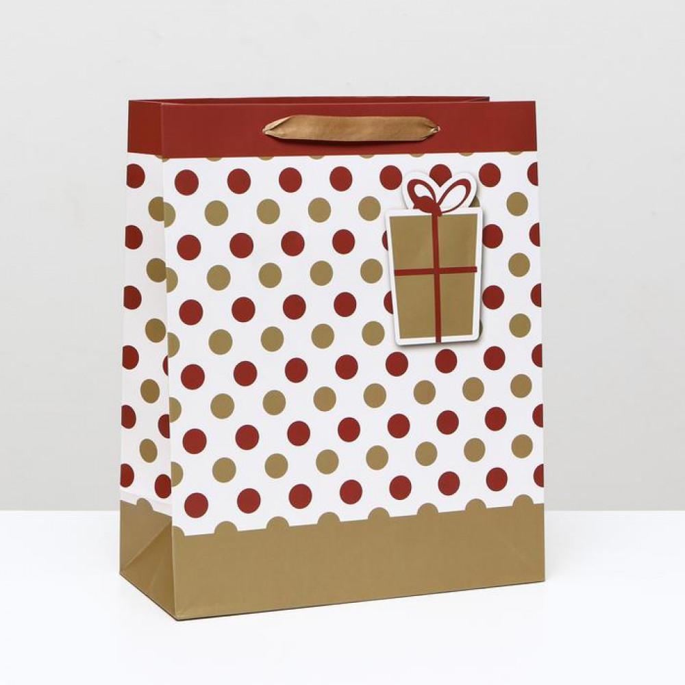 Пакет «Горох с подарком» 26 x 32 x 12 см