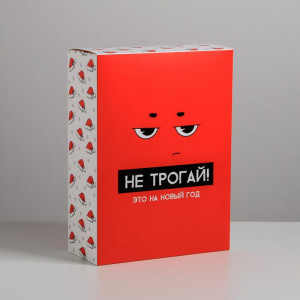 Подарочная коробка «Не трогай, это на Новый год»