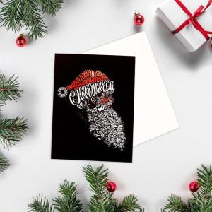 Мини-открытка «С Новым Годом» Дед Мороз