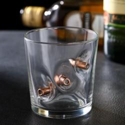 Непробиваемый стакан для виски 3 пули 250 мл