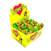 Коробка жвачек Love is, кокос и ананас, 100 шт