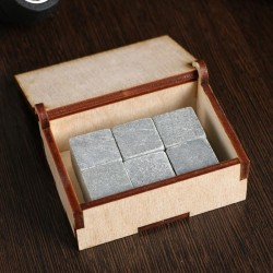 Камни для виски «Всегда первый», в шкатулке, 6 шт