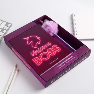 Набор Unicorn Boss: ежедневник и ручка