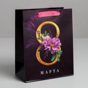 Пакет «8 Марта» MS 18 × 23 × 10 см