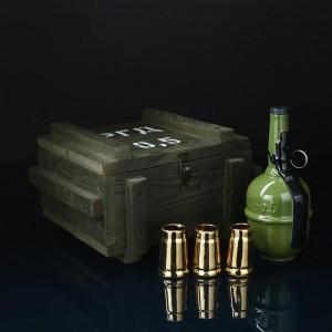 "Набор для коньяка ""Граната РГД"" в ящике"
