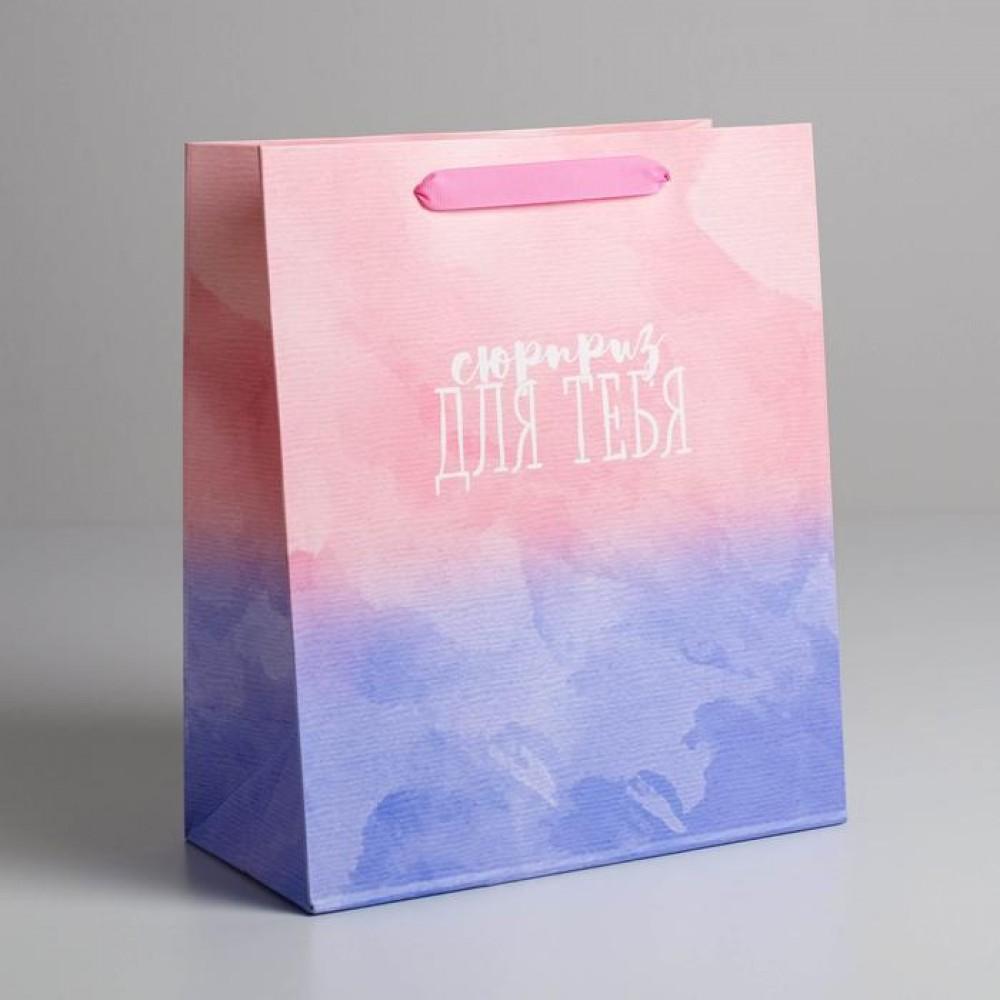 Пакет подарочный «Сюрприз для тебя» 23 × 27 × 8 см
