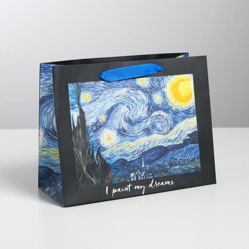 Пакет подарочный Звездная ночь Ван Гог 23 × 18 × 10 см