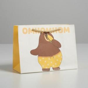 Пакет подарочный «Омномном» 14 × 19 × 8 см