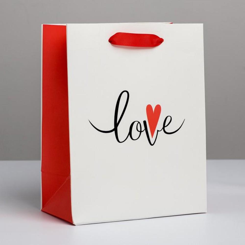 Пакет подарочный Love 18 × 23 × 10 см