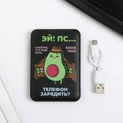 Внешний аккумулятор «Авокадо» 5000 mAh