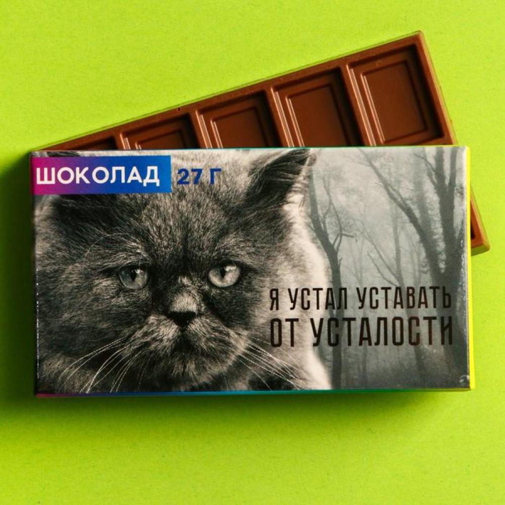 Шоколад молочный «Я устал уставать» 27 г.