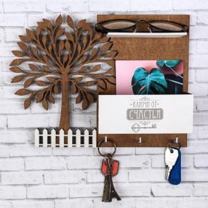 Ключница с полкой «Дерево»