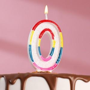 Свеча для торта цифра «0», 7 см