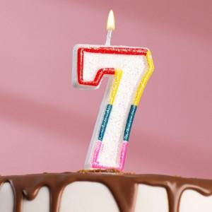 Свеча для торта цифра «7» , 7 см