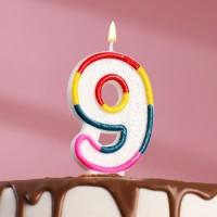 Свеча для торта цифра «9» , 7 см
