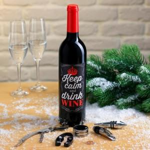 Подарочный набор для вина «Keep calm»