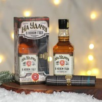 Подарочный набор «На удачу в Новом году» гель для душа, платок-сигара
