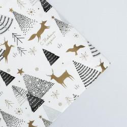Бумага для упаковки подарка «Новогодний лес»