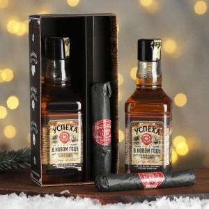 Мужской набор «Успеха в Новом году» гель для душа, мыло-сигара